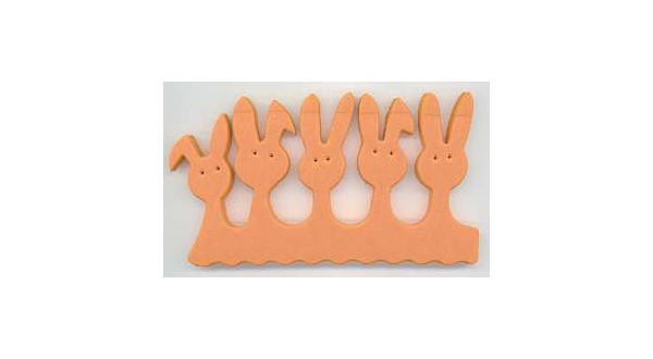 Separátor prstů Orange Bunny