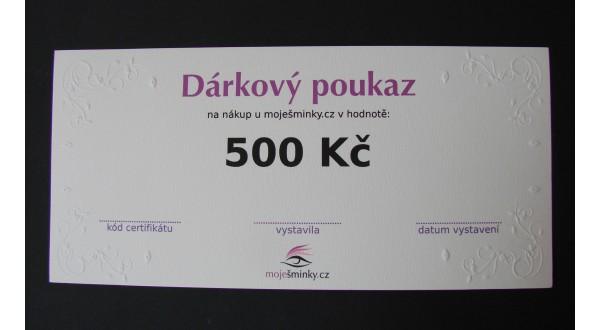 Dárkový poukaz 500Kč